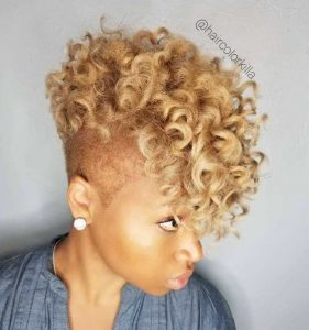 Blonde Frohawk With Shaved Sides
