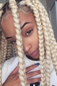 Blonde Jumbo Box Braids