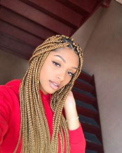 Chunky Blonde Box Braids