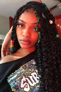 passion twist crochet braids with colour accents