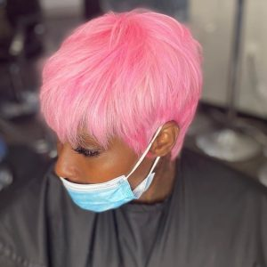 candy pink pixie quick weave