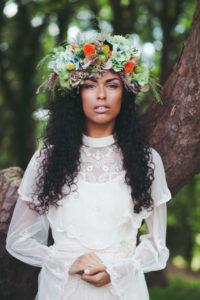 Flower Crowns wedding hairstyle