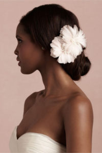 Low Updo and Flowers