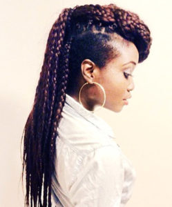 side braids for black woman