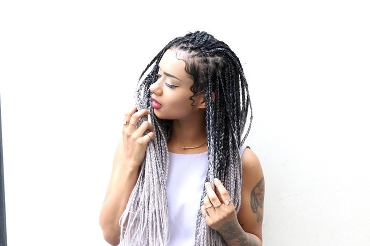 jumbo box braids styles