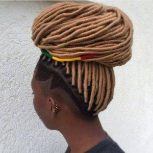 beehive bun yarn braids