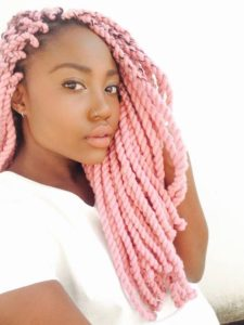 pink yarn braids