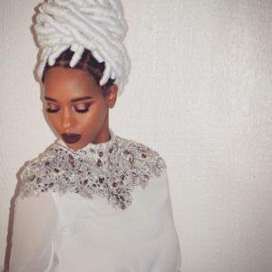 white yarn braids