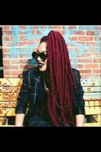 high ponytail yarn braids