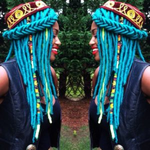 fishtail yarn braids