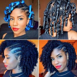 Braid & Curl With Cornrows
