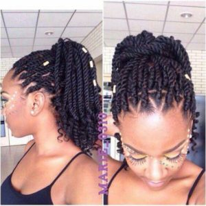 Kinky Twists High Ponytail