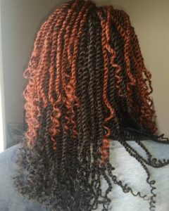 Red And Black Kinky Twists