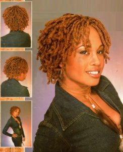 Short Reddish Blonde Kinky Twists