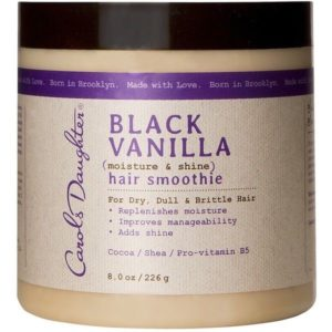Black vanilla coarse hair