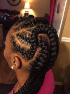 topsy turvy feed in braids