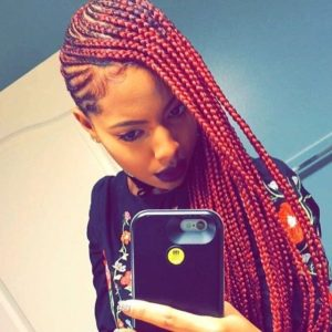red hot feed in cornrows