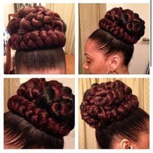 braided high bun