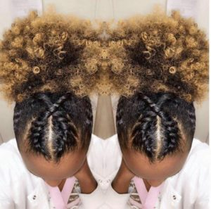 high puff with flat twists