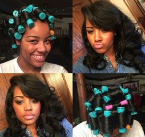 roller set texurized hair