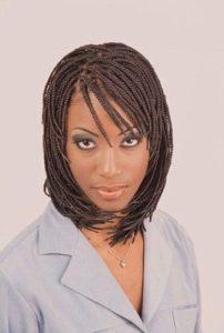 bob braids with bangs
