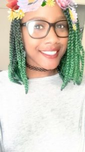 green bob braids