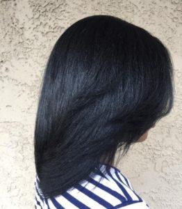 healthy relaxed hair