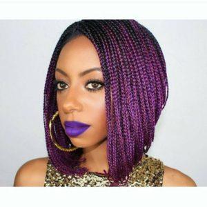 purple stacked bob