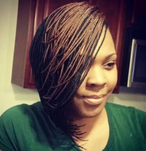 two toned micro braids