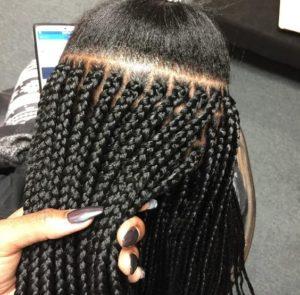 box braids parts