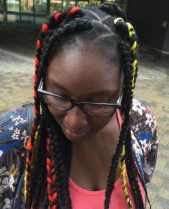 dookie braids colorful streaks