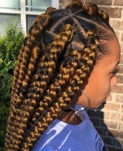 golden dookie braids