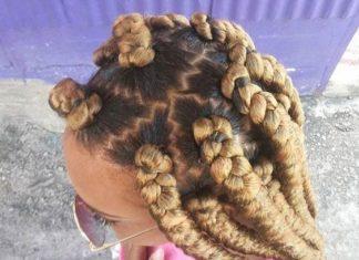 golden dookie braids zig zag part
