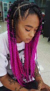 pink ombre dookie braids