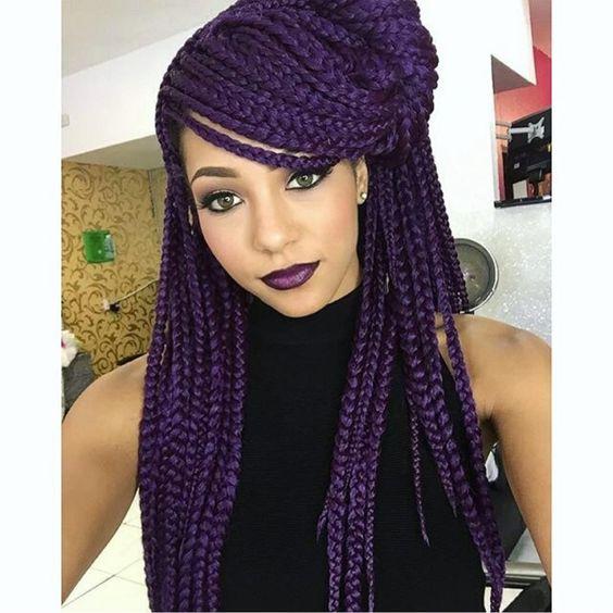 Purple Braids Styles 35 Gorgeous Purple Braids Hairstyles