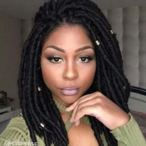 should length crochet faux locs with beads