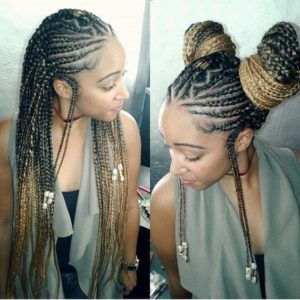 iverson braids with double buns