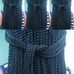 pulled back rope twists