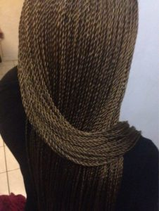thin golden rope twists