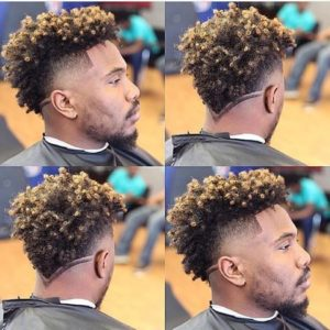 Coily Odell Beckham Cut With V Shape