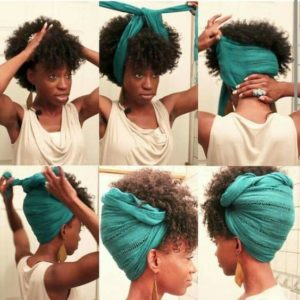 Pineapple Wrap With Bangs