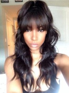 Remy Body Wave With Bangs