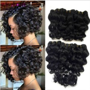 Remy Sew In Curly Bob