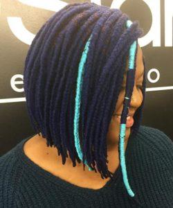 Short Multi-Colored Yarn Braids