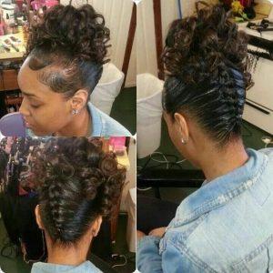 curly upside down braid