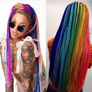 Multicolor Box Braids