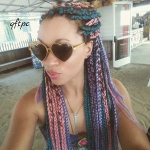 Pastel Colored Box Braids