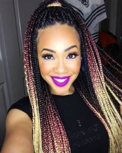 Pink And Blonde Ombre Box Braids