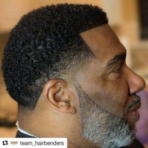 Dark Hair Grey Beard