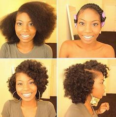 twist Out On Blown Out Hair